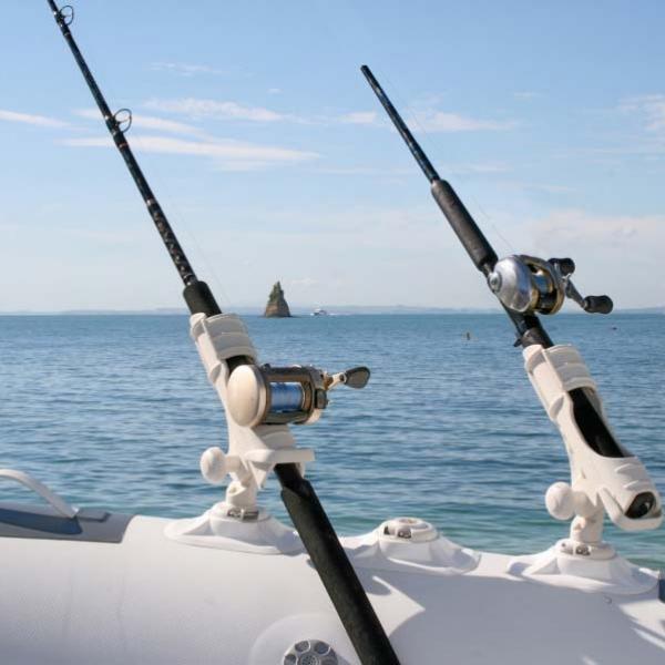 RIBPort основа и Rod Holder стойка в бяло - стилна комбинация за балона на лодката - 23