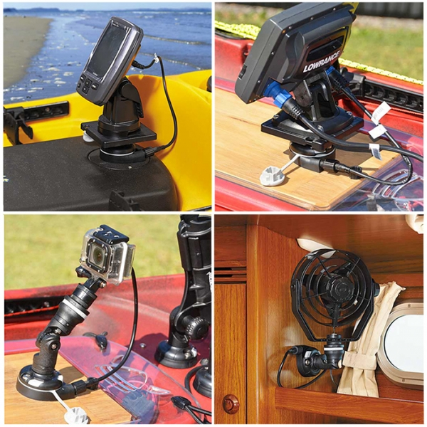 Ток на 12V за камерата, прожектора или вентилатора - с 12VDC StarPort основата - 7