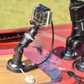 Основа за стойка Railblaza E Series 12VDC StarPort - камера, сонар, всичко със стандартен жак 12V/3A ще бъде захранено с ток