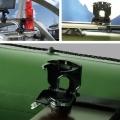 Стойка за чаша Railblaza CupClam BLK - монтажът е възможен навсякъде - релинг, релси на трак система, хоризонтално