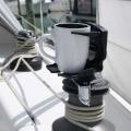 Стойка за чаша Railblaza CupClam BLK - може да й поверите чаши, кенове, телефони, радиостанции