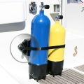 Овална халка Railblaza WebEye30 Pair BLK - бутилките за гмуркане и съпровождащите ги аксесоари са на сигурно