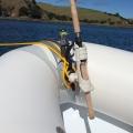 Основа за стойка с клин Railblaza CleatPort RIBMount GR - комбинацията спестява от ценното вътрешно пространство