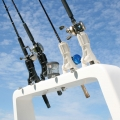 Стилна стойка за риболовен прът Railblaza Rod Holder II - бяла, елегантна и стилна
