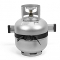 Стойка за бутилки Railblaza TracPort Dive & Gas Bottle Holder - бутилката с газ пропан е здраво и безопасно закрепена