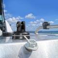 Многофункционална бяла скоба Railblaza Clevis/Bimini Support WH - 02-4032-21-WH - стилно и здраво фиксирано