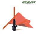 Сигнален флаг с пръчка в ярък цвят Railblaza FlagWhip - 02-4010-11 - лек, мобилен и гъвкав аксесоар, с лесен монтаж и съхранение