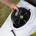 Колела за каяк, имитиращи верига - лесно разглобяване и възможност за съхранение в люка на каяка.