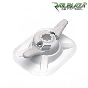 Комбинирана основа за стойка Railblaza RIBPort за балона на надуваемите лодки с CleatPort клин за въже - 03-4066-21-WH