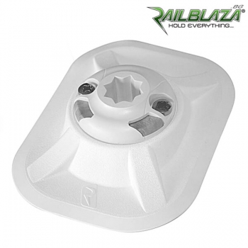 Специална основа в бял цвят за стойка Railblaza RIBPort за балона на надуваемите лодки