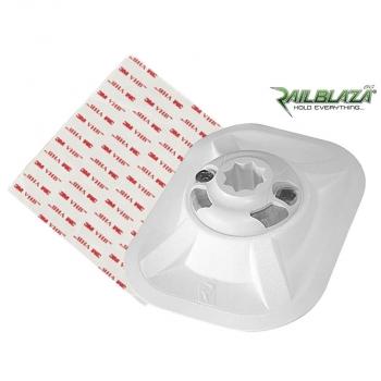 Специална основа в бял цвят за стойка Railblaza RIBPort с лепенка за балона на надуваемите лодки