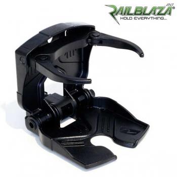 Черна сгъваема, регулируема стойка за чаши и напитки Railblaza CupClam BLK - 02-4013-11-BLK